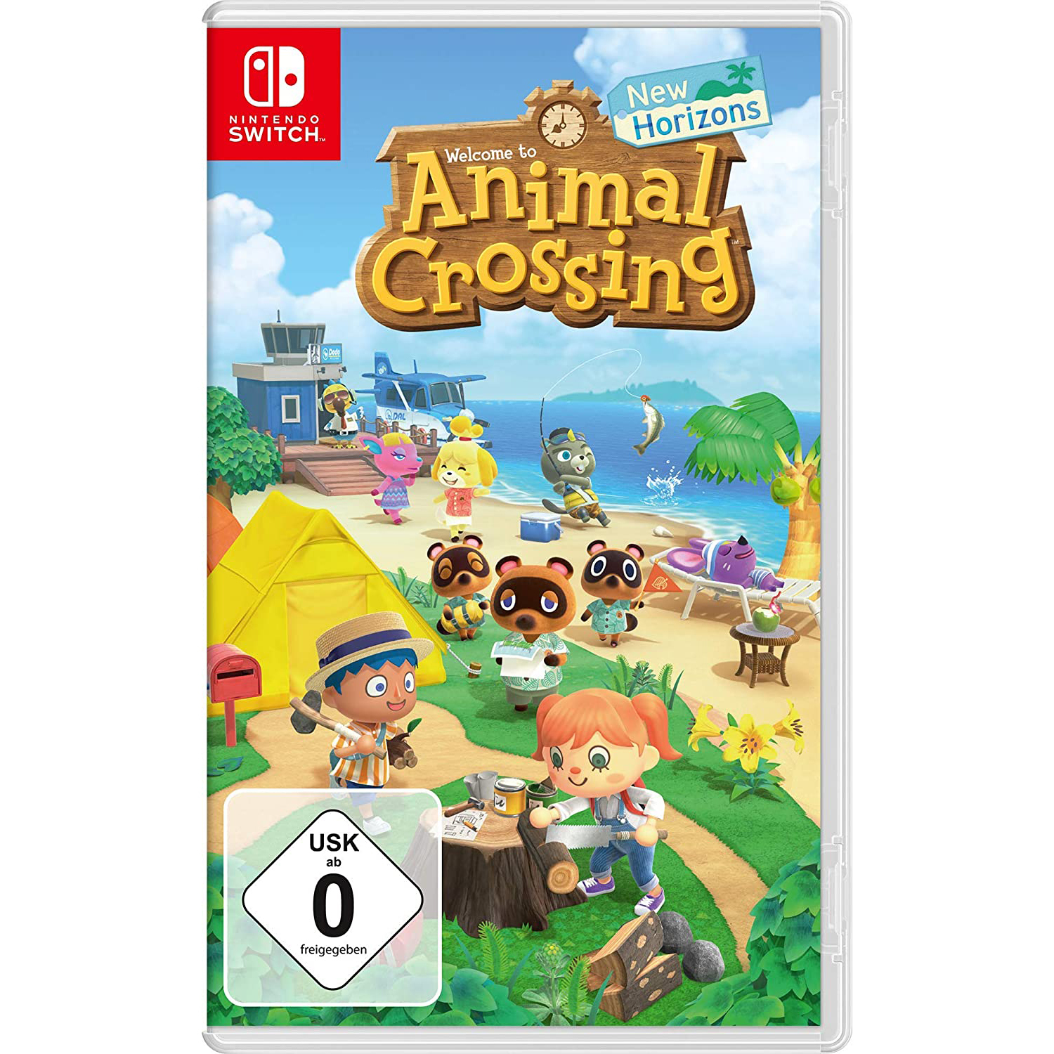 Die Hülle von Animal Crossing New Horizons